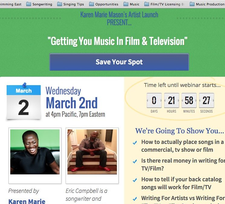 Want to learn how to get your songs in Film or TV?